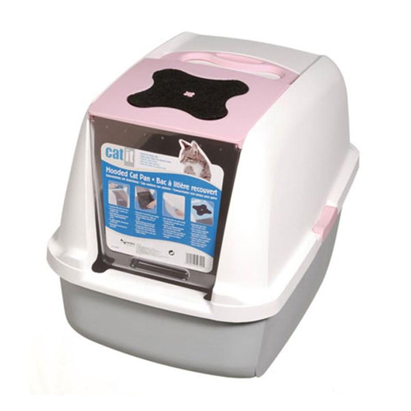 Catit Kapalı Kedi Tuvalet Kabı Pembe 57x46