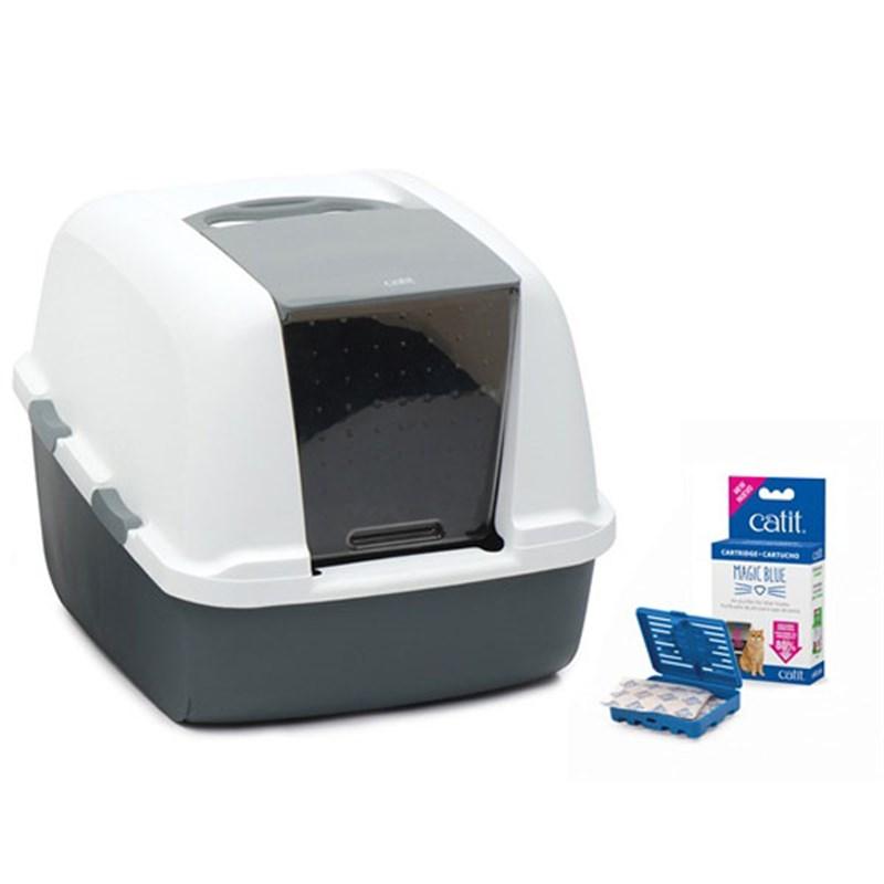 Catit Magıc Blue Litter Box Jumbo Kapalı Kedi Tuvaleti 57x46
