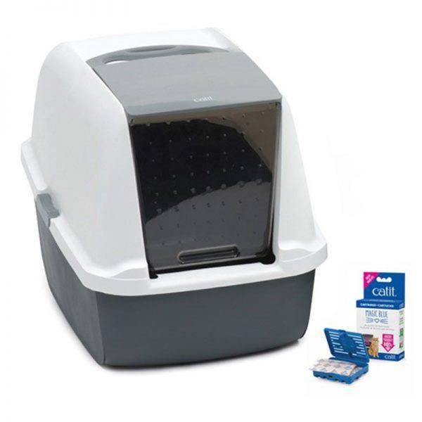 Catit Magıc Blue Litter Box Regular Kapalı Kedi Tuvaleti 57x46