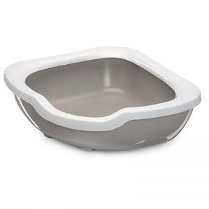 İmac Fred Köşe Açık Kedi Tuvaleti Gri 50x65x15.5 Cm