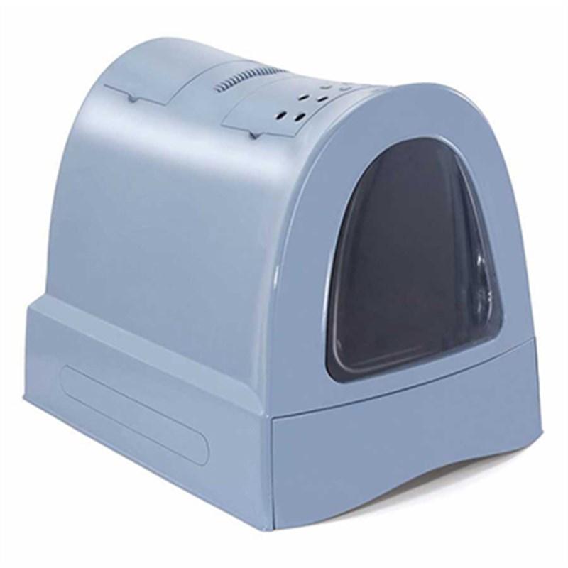 İmac Zuma Çekmeceli Kapalı Kedi Tuvaleti Mavi 40x56x42.5 Cm