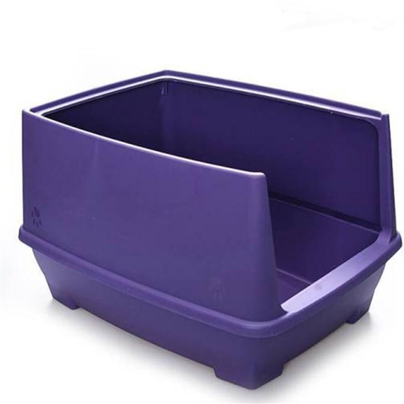 Lepus Relax Yarı Kapalı Kedi Tuvaleti Mor 48x36x31h cm