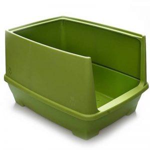 Lepus Relax Yarı Kapalı Kedi Tuvaleti Yeşil 48x36x31h cm