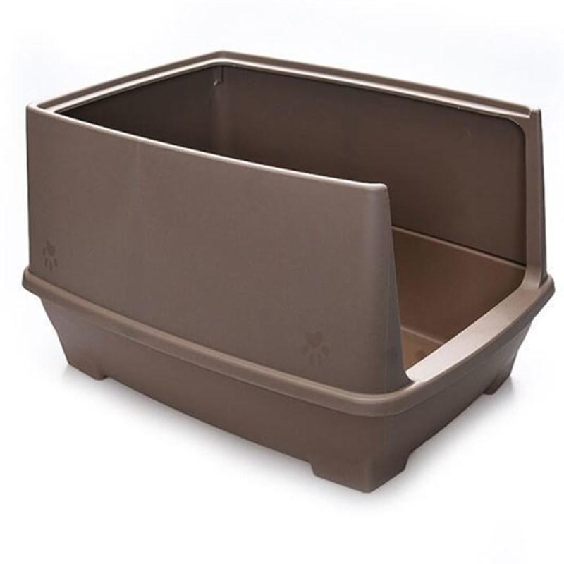 Lepus Relax Yarı Kapalı Kedi Tuvaleti Kahve 48x36x31h cm