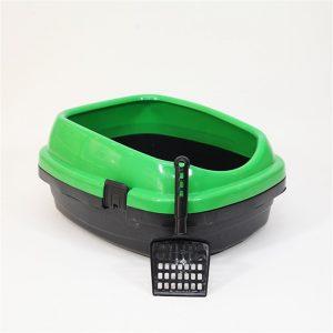 Pet Style Comfort Açık Kedi Tuvaleti Yeşil 49.5X40X22h Cm