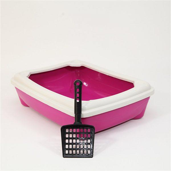 Pet style Kitty Açık Tuvalet Kabı Mor 49X37.5X13.5h Cm