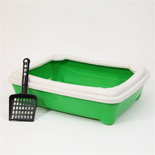 Pet Style Kitty Açık Tuvalet Kabı Yeşil 49X37.5X13.5h Cm
